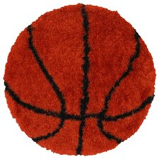 Senses Shag Basketball Kids Rug