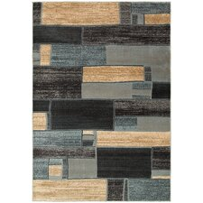 Adana Blue/Ivory Geometric Rug