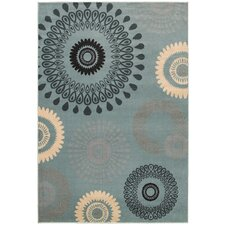 Adana Light Blue Floral Rug