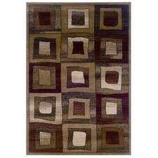 <strong>LR Resources</strong> Adana Brown Checked Rug