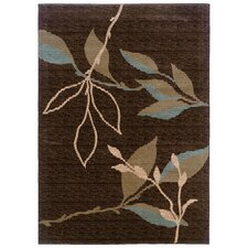 <strong>LR Resources</strong> Opulence Brown/Light Moss Rug