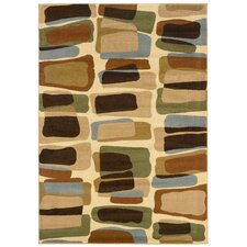 Adana Abstract Blocks Cream/Berber Area Rug