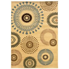 <strong>LR Resources</strong> Adana Cream Kaleidoscopic Rug