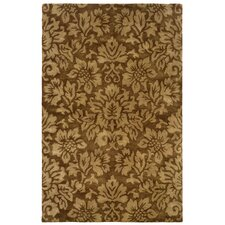 Majestic Brown Bold Floral Rug