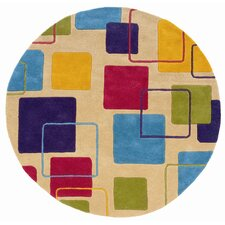 <strong>LR Resources</strong> Vibrance Ivory Geometric Squares Rug