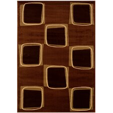 Adana Rose/Brown Checkerboard Rug