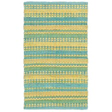 Dhurry Blue/Yellow Rug