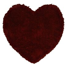 Senses Shag Red Heart Kids Rug