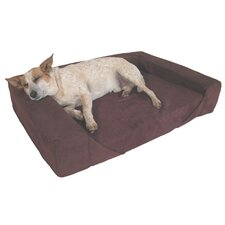 "4"" Comfort Den Memory Foam Bolster Dog Bed"