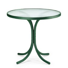 "Obscure Acrylic Top Table 30"" Round Dining Table without Hole"