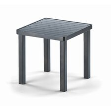 <strong>Telescope Casual</strong> 18'' Square Aluminum Slat End Table