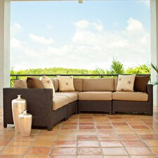 <strong>Telescope Casual</strong> La Vie Deep Seating Sectional Sofa with Cushions