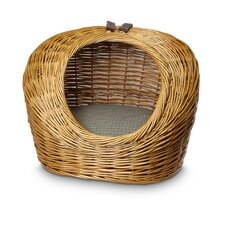 Wicker Irish Cork Cat Basket and Bed