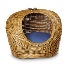 Wicker Cat Basket and Bed