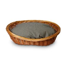 Wicker Irish Cork Dog Basket and Bed