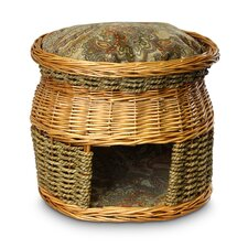 Luxury Wicker Double Decker Cat Basket and Bed