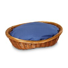Wicker Dog Basket and Bed
