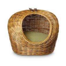 Luxury Wicker Shaker Mojito Cat Basket and Bed