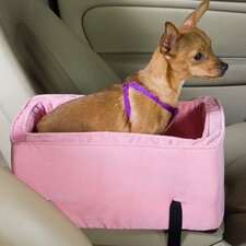 Luxury Lookout Console Pet Car Seat in Pink Microsuede
