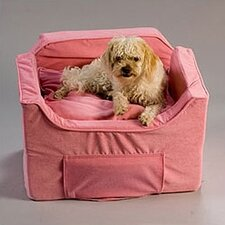 Luxury Lookout II Pet Car Seat in Pink Microsuede