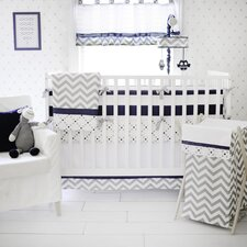 Out of the Blue 4 Piece Crib Bumper Set