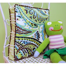 Paisley Splash in Lime Throw Pillow