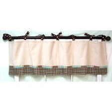 Mad About Plaid Cotton Tab Top Curtain Tailored Curtain Valance