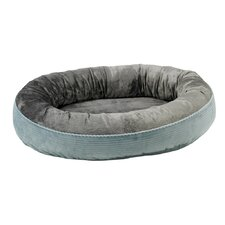 Plush Orbit Donut Dog Bed