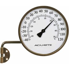<strong>Accurite</strong> Brass Thermometer with Swing Arm