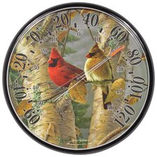 James Hautman Indoor / Outdoor Cardinals Thermometer