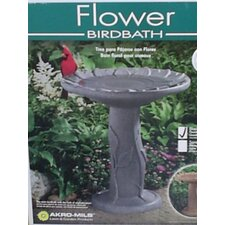 Flower Bird Bath-Black Granite Bird Bath