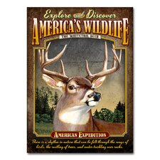 Whitetail Deer Tin Sign Magnet Wall Art