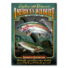 Rainbow Trout Tin Sign Magnet Wall Art