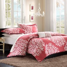 Folklore Raspberry Big Print Comforter Set