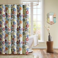Tamil Polyester Shower Curtain