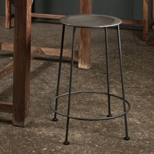 Iron Counter Stool in Zinc