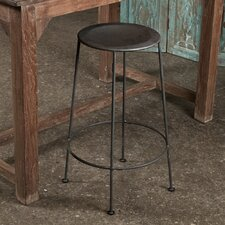 Iron Bar Stool in Zinc Finish
