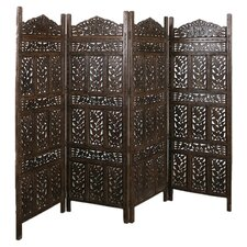 "<strong>CG Sparks</strong> 66"" x 88"" Flower Jali 4 Panel Room Divider"