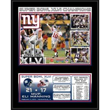 NFL New York Giants Super Bowl XLVI Sublimated Memorabilia Plaque