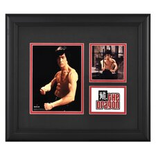 "<strong>Mounted Memories</strong> Bruce Lee ""The Dragon"" III Framed Presentation with Two Photos - 15"" X 17"""