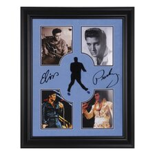 "Elvis Presley Framed Photo Presentation with Laser-Cut Replica Signature - 28"" X 24"""