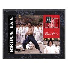 Bruce Lee 'The Dragon' Memorabilia Plaque