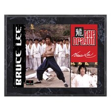 "Bruce Lee ""The Dragon"" Plaque - 10.5"" X 13"""