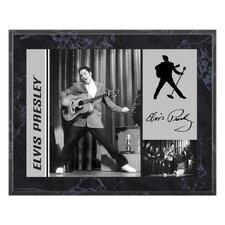 Elvis Presley '50s On Stage' Memorabilia Plaque