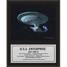 "Star Trek: The Next Generation Enterprise NCC-1701-D Sublimated Plaque - 15"" x 12"""