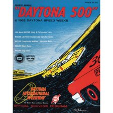 NASCAR Daytona 500 Program Vintage Advertisement on Canvas