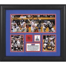 NFL New York Giants Super Bowl XLVI Framed 3-Photo Collage with Game-Used Football