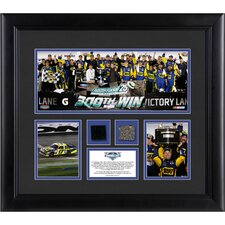NASCAR 2012 Daytona 500 Champion Framed 3 Photo Collage with Race-Used Tire and Track