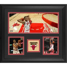 Chicago Bulls Framed 3 Photograph Collage