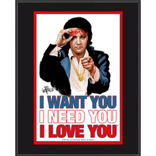 "<strong>Mounted Memories</strong> Elvis Presley ""I Want You, I Need You, I Love You"" Plaque"
